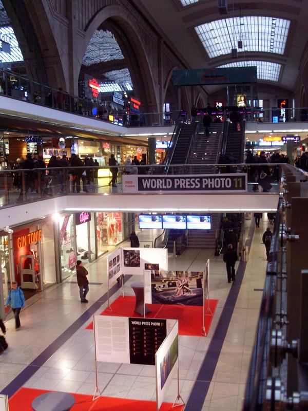World Press Photo Ausstellung im Leipziger Hauptbahnhof