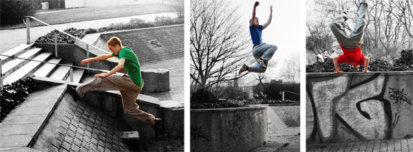 Parkour in Leipzig Twio X