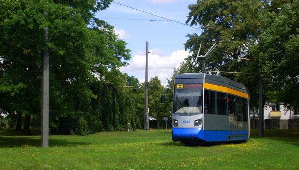 Wilhelm-Kuelz-Park Leipzig Straßenbahn