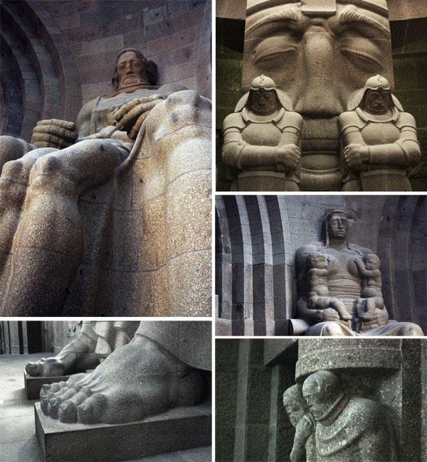 völkerschlachtdenkmal Leipzig Figuren innen