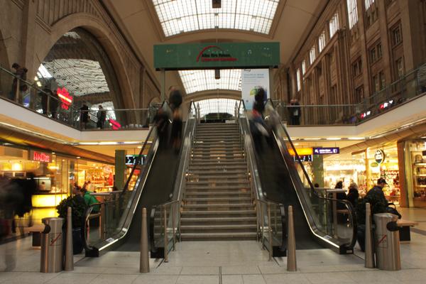 Hauptbahnhof Leipzig Treppe
