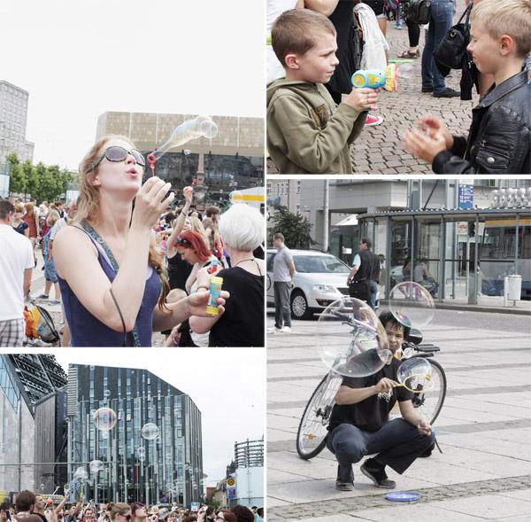 Seifenblasenflashmob Leipzig