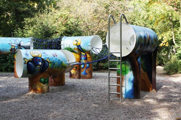 Clara-Zetkin-Park Leipzig Kinder Spielplatz