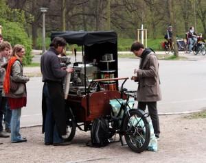 Kaffeefahrrad Sachsenbrücke Leipzig