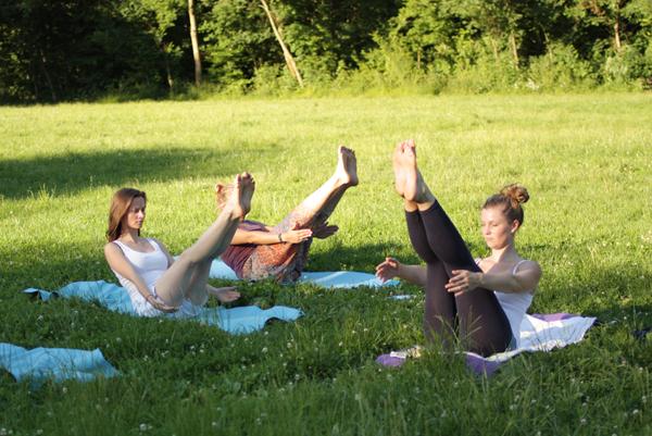 Yoga im Park Leipzig