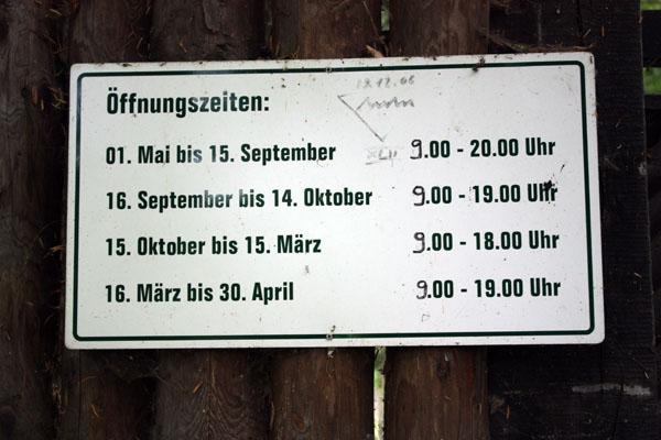 Wildpark Leipzig Öffnungszeiten