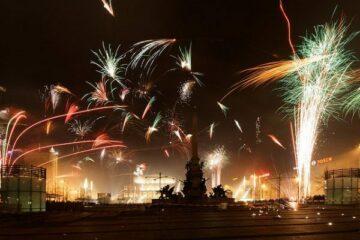 Feuerwerk in Leipzig