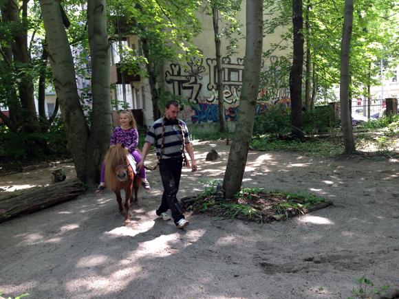 CityFarmers Ponyreiten Torgauer Platz