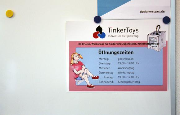 Tinkertoys Öffnungszeiten