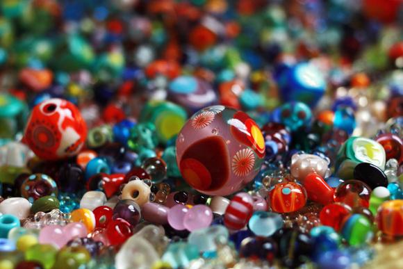 Glas Perlen Melanie Mörtel