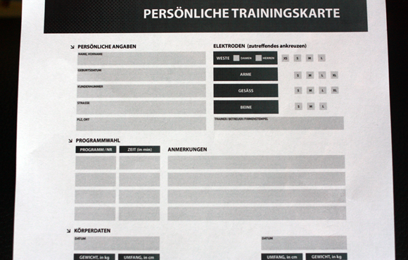 EMS Trainingskarte