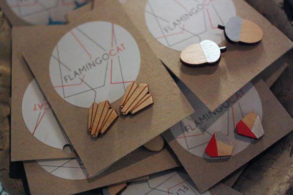 FlamingoCat Ohrringe Holz