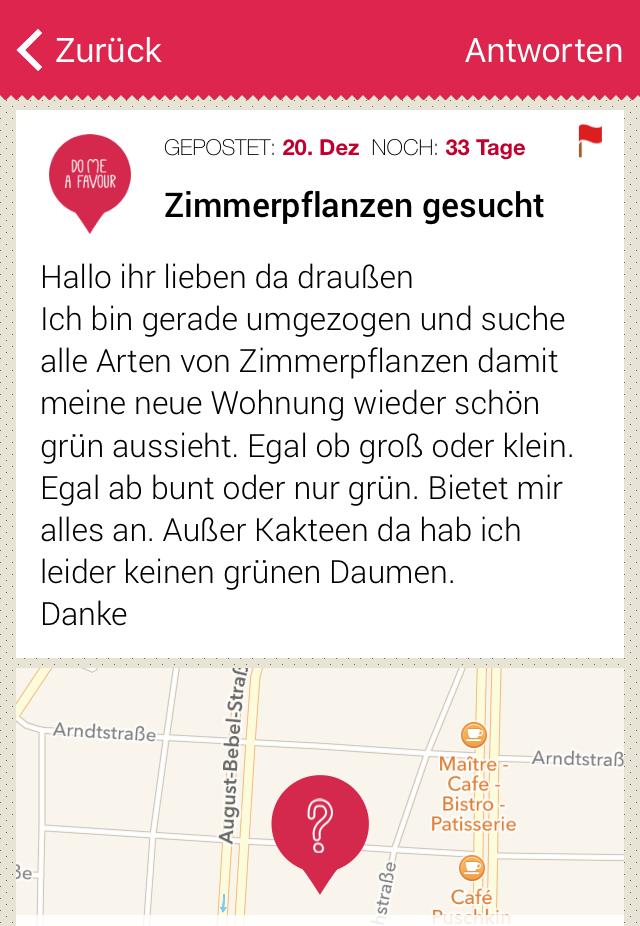 DoMeAFavour App Leipzig