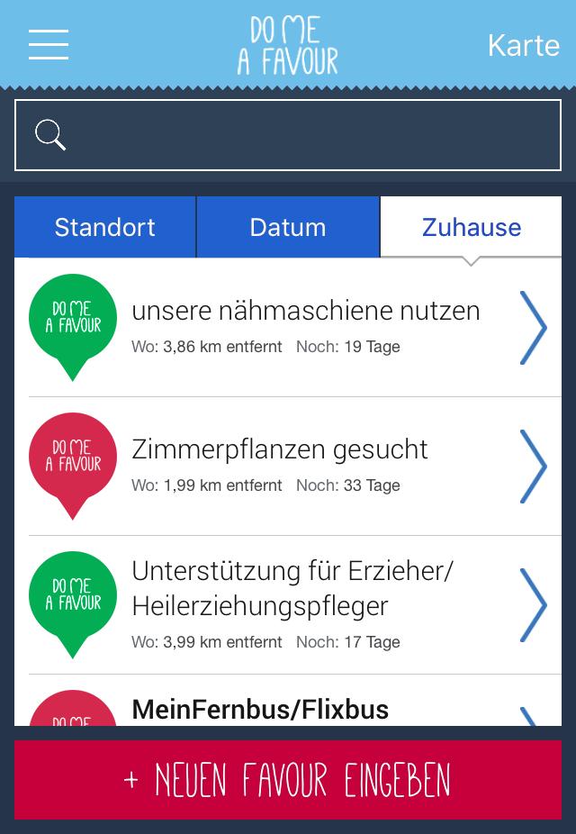 DoMeAFavour App