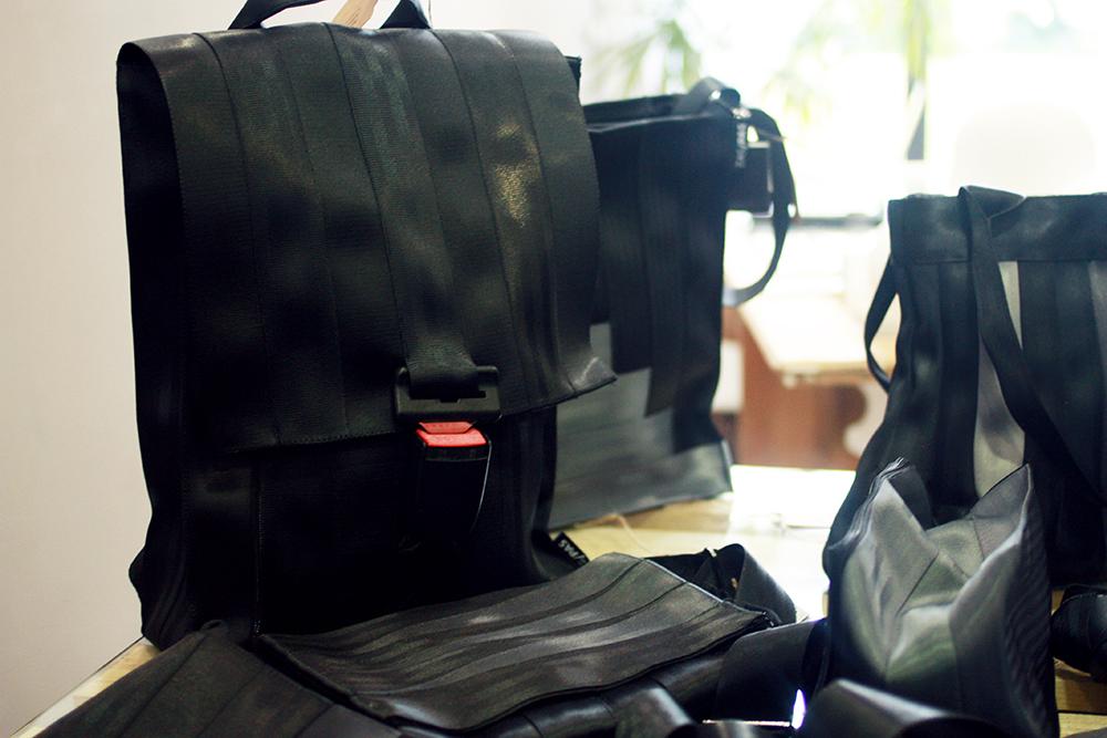 Taschen aus Sicherheitsgurten